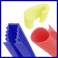 Vinyl extrusions and plastic extrusions available.